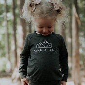 Little & Lively Take a Hike Pullover - Charcoal