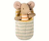 *Maileg Baby Mouse in Sleeping Bag