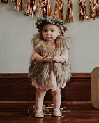 Bailey's Blossoms Boho Fur Vest