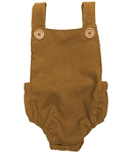 Bailey's Blossoms Courduroy Romper - Chestnut