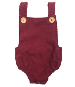 Bailey's Blossoms Corduroy Romper - Cranberry