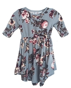 Bailey's Blossoms Harper Dress - Grey Floral