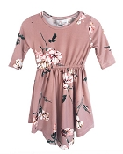Bailey's Blossoms Harper Dress - Mauve Floral