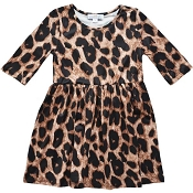 Bailey's Blossoms Leopard Pleated Dress