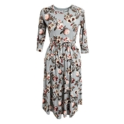 Bailey's Blossoms Mommy & Me Harper Dress - Gray Floral