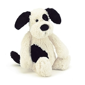 *Jellycat Bashful Puppy (Black & Cream) Medium - 12