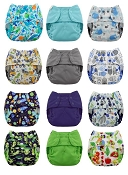 Blueberry Capri Diaper Cover 12-Pack