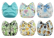 Blueberry Simplex Newborn Organic All-In-One Cloth Diaper 6-Pack
