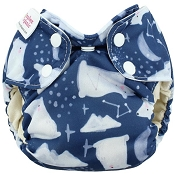 Blueberry Simplex Organic Newborn All-In-One Cloth Diaper
