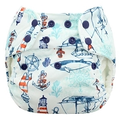 Blueberry Simplex Organic All-in-One One-Size Cloth Diaper