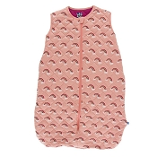 Kickee Pants Quilted Sleeping Bag - Print Quilted Sleeping Bag in Berry/Blush Rainbow