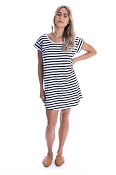 Beau Hudson Navy & White Tee Dress - Ladies (Size XL) *CLEARANCE*