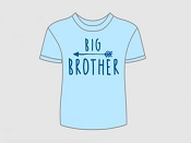 Itty Bitty Baby T-Shirt  - Big Brother Arrow (Size 6-7 Years) *CLEARANCE*