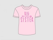 Itty Bitty Baby T-Shirt  - Big Sister Arrow