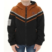 L&P Apparel Lined Outerwear Jacket - Black & Caramel