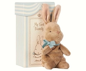 *Maileg My First Bunny in Box, Blue