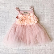 Bluish Baby Ellie Tutu Dress - Vintage Blush