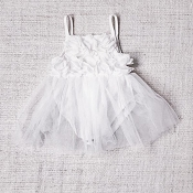 Bluish Baby Ellie Tutu Dress - Snow White
