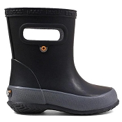 Bogs Skipper Solid Kids Rainboots - Black