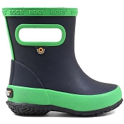 Bogs Skipper Solid Kids Rainboots - Navy/Green
