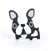 *Loulou Lollipop Boston Terrier Silicone Teether (Single)