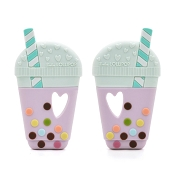 *Loulou Lollipop Bubble Tea  Silicone Teether - Mint