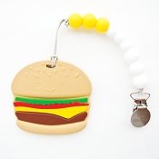 *Loulou Lollipop Burger Teether with Holder