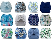 Buttons Newborn Cloth Diaper Cover 12-Pack