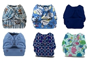 Buttons Newborn Cloth Diaper Cover 6-Pack
