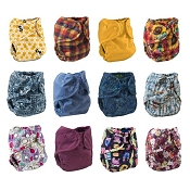Buttons One-Size Cloth Diaper Cover 12-Pack