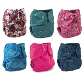 Buttons One-Size Cloth Diaper Cover 6-Pack