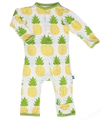 KicKee Pants Fitted Coverall - Natural Pineapple (SNAPS)