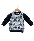 Hau'oli Apparel Pullover Sweater - Forest Print with Black