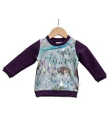 Hau'oli Apparel Pullover Sweater - Aurora Summer With Plum (18-24 Months) *CLEARANCE*