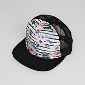 Hey Baby! Trucker Hat - Floral Stripe