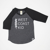 Hey Baby! Raglan - West Coast Kid