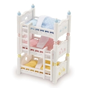 *Calico Critters Triple Baby Bunk Bed