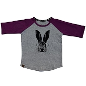 L&P Baseball Style Jersey - Hare (Grey & Purple)