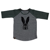 L&P Baseball Style Jersey - Hare (Grey & Green)