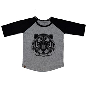 L&P Baseball Style Jersey - Tiger (Grey & Black)