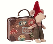 *Maileg Christmas Mouse in Travel Suitcase