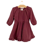 City Mouse Muslin Gathered Dress - Raisin