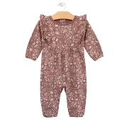 City Mouse Ruffle Romper - Ditsy Deer