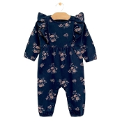 City Mouse Ruffle Romper - Night Sky Hellebore