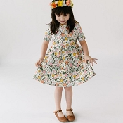 Little & Lively Daphne Dress - Picnic Floral