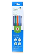*Colibri Reusable Silicone Straws - 4 Pack + Cleaner