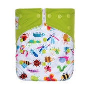 KaWaii Printed Snap Baby One Size Adjustable Cloth Diaper