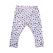 Little & Lively Leggings - Finger Painted Dots on Lt. Pink