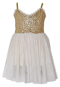 Bailey's Blossoms Couture Gold Sequin Dress