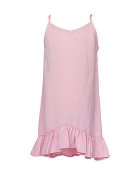 Bailey's Blossoms Spaghetti Strap Ruffle Dress - Pink *CLEARANCE*
